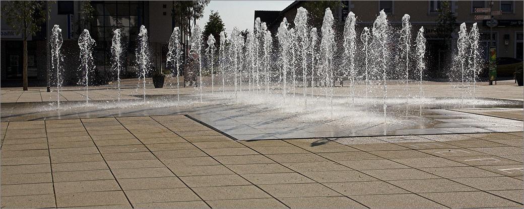 Betonplatten für Wasserspiele