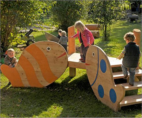 Spielhaus für Kleinkinder, Fische